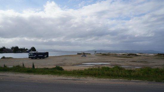 Jaguaruna, SC: Região da Barra do Camacho, ligação do mar com a lagoa