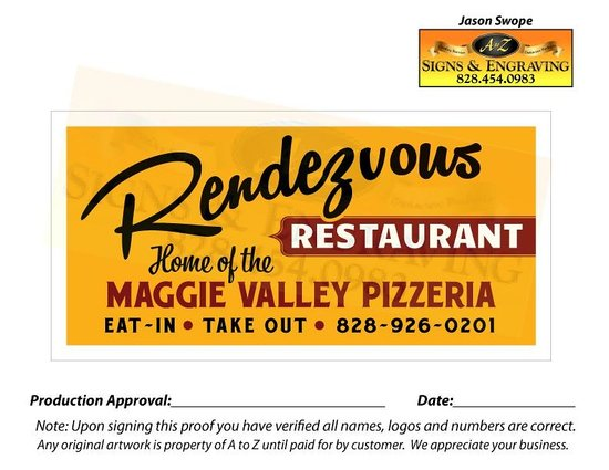 Rendezvous Restaurant and Lounge: Look for our Sign, 70 Soco Road in the Maggie Valley Inn