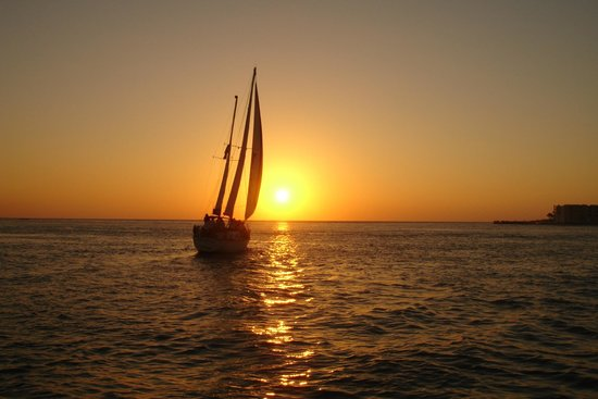 Wonderful Sunset Picture Of Dolphin Landings Charter