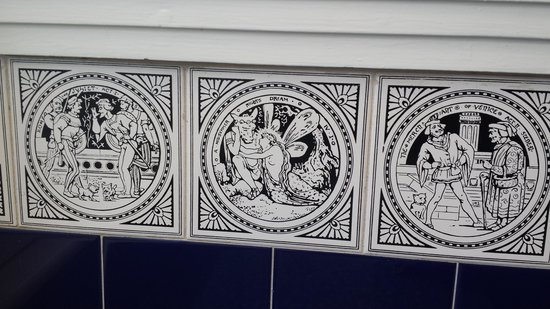 People's Palace and Winter Gardens: Shakespeare tiles