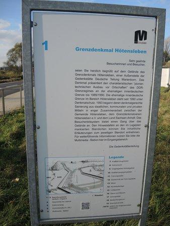 Hoetensleben, Allemagne: Eine von vielen Hinweistafeln und Erklärungen