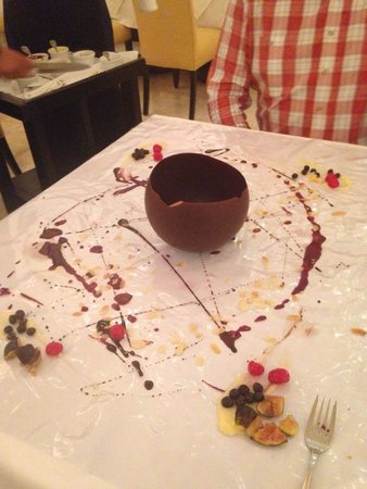 Playacar Palace: Yummy pudding in the Italian restaurant ❤️