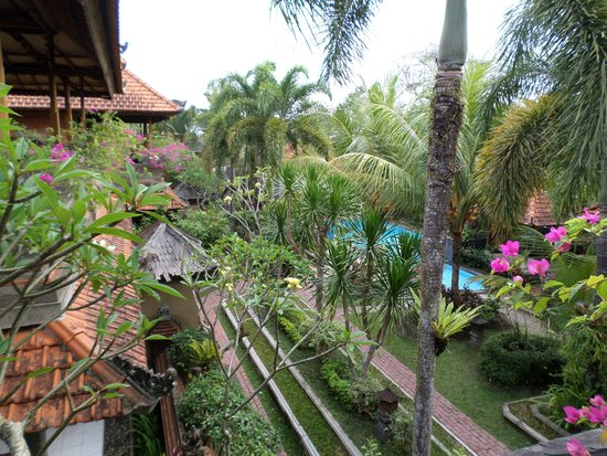 Dewa Bharata Ubud: Vue de notre chambre sur le jardin