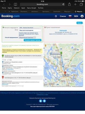 Interhostel: маршрут