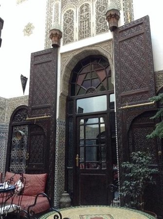 Riad Hala: The door to our room