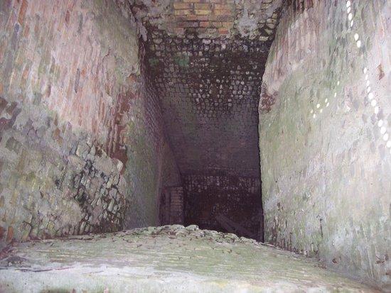 Hurstville Interpretive Center: inside the lime kiln