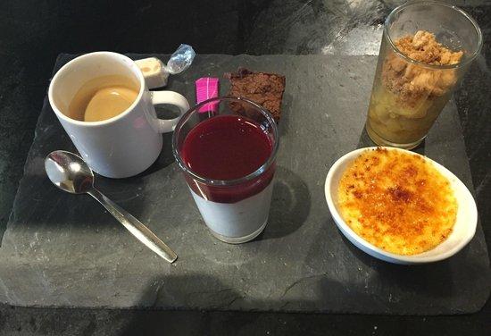 Villa Plancha : Notre café gourmand! (qui change régulièrement)