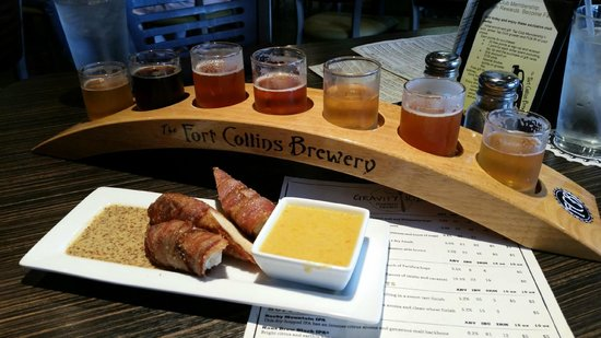 Fort Collins Brewery: Delicious Pretzels wrapped in Bacon