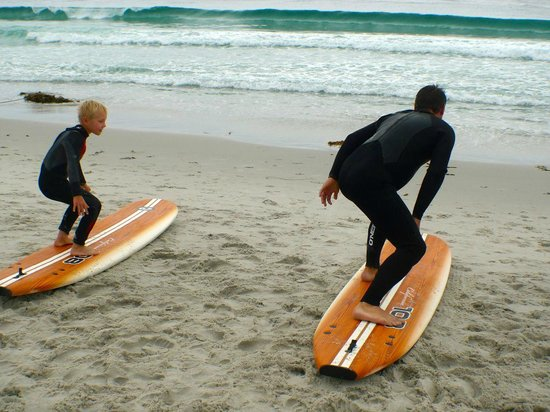 South Bay Surf Lessons: learning how to stand on the board