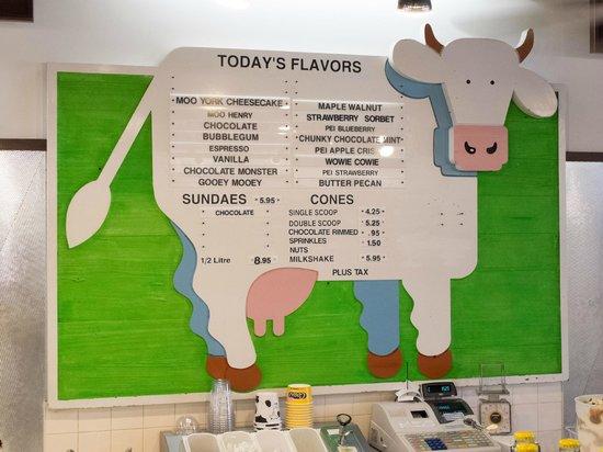 Cows Niagara On The Lake: Cows menu