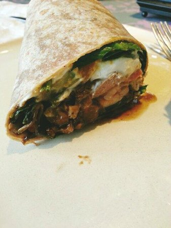 Tissa's Le Souk du Maroc: Apricot chicken with goat cheese wrap