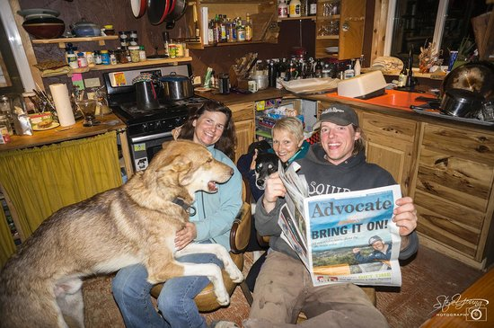 Sirius Sled Dogs & Aurora Tours : Reading our local newspaper carried from Australia for them