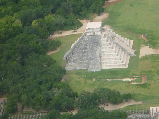 This Is Cozumel: Chichen Itza from the plane