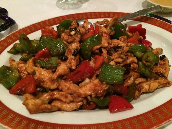 Uncle Tai's: Chicken, peppers and flat tasting sauce, looks better than it tasted