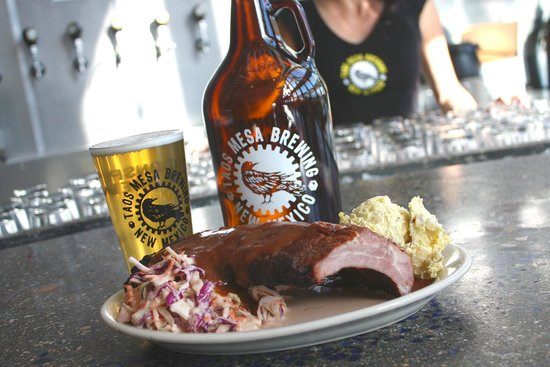 Taos Mesa Brewing: RIBS from our smokehouse