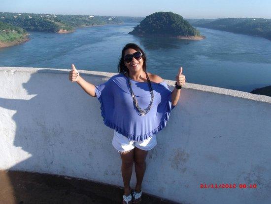 Paraguay: Vista de cima da Ponte da Amizade