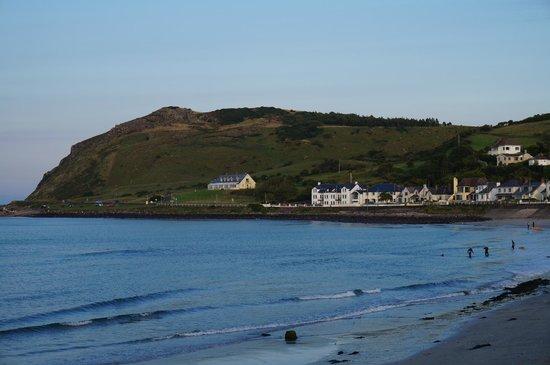 Antrim Coast Road: View along Coast Road at Ballygally