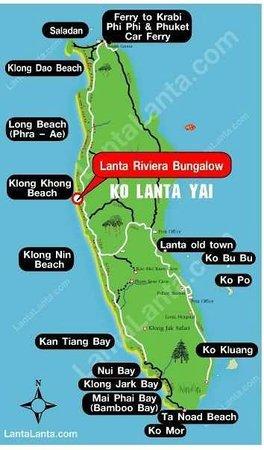 Location of Lanta Riviera on Koh Lanta island Picture of Lanta
