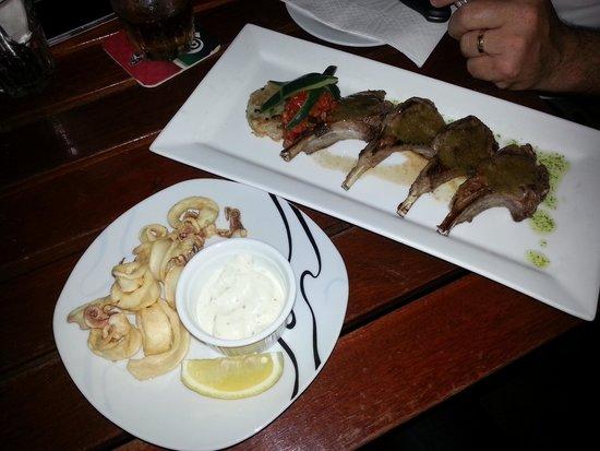 Pisco Bar : Squid and Lamb Tapas