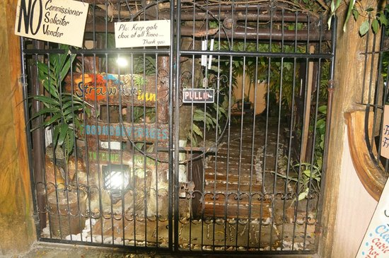 Dave's Straw Hat Inn: Entrance gate to Dave's