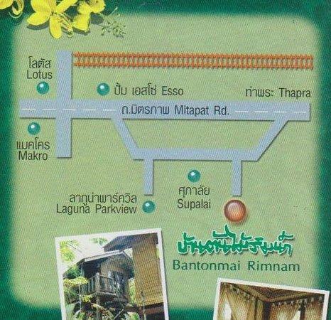 Bantonmai Rimnam Resort & Restaurant: แผนที่