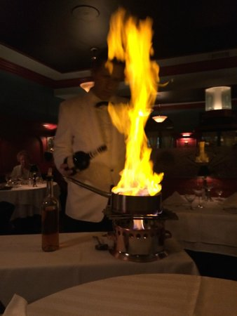 Le Continental: Duck orange flambe