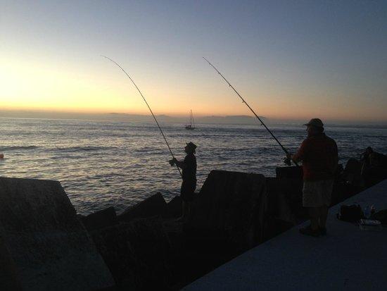 Fishing in Gordon's Bay Harbor