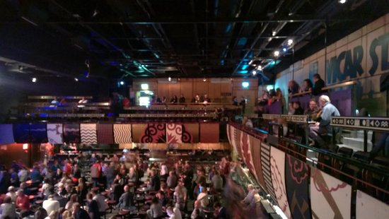 Vicar Street: Stalls and balcony view