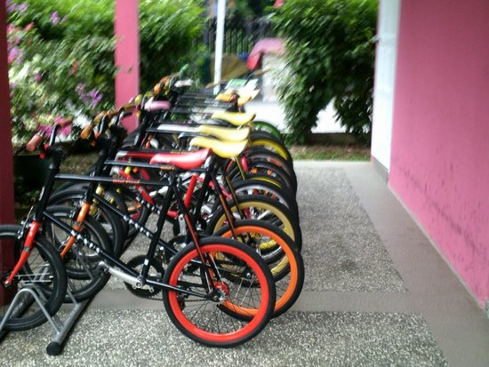 Sematan, Malaysia: Bicycle for rent