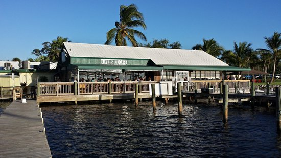 Riverside Cafe: View from the dock