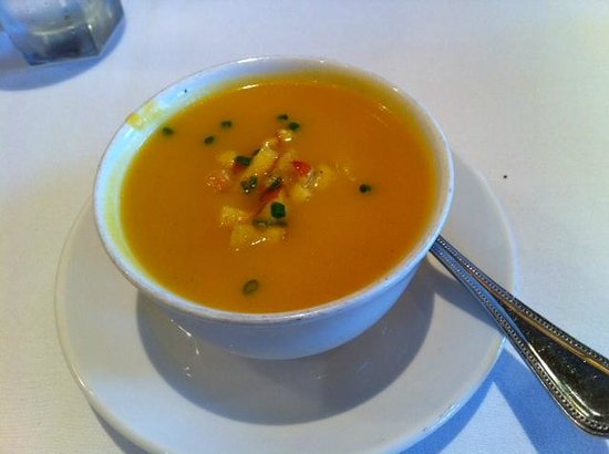 Butternut Squash Bisque With Diced Apples Very Fall Like Picture Of The Capital Grille