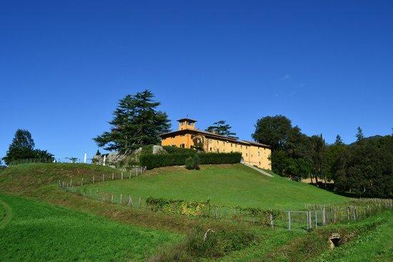 Villa Poggio Bartoli: la villa dal lato destro