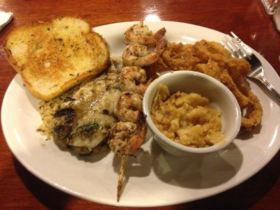 Drake's: Wood grilled orange roughy with shrimp