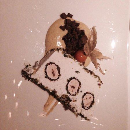Langosteria : Semifreddo con meringa e pistacchi