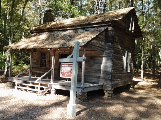 Old Log Cabin and trail Picture of Callaway Gardens Pine