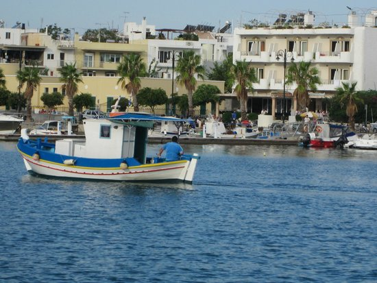 Astron Hotel : View of hotel from across the harbour