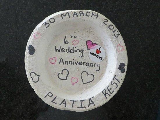 Platia plate.