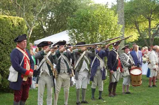 The Thomas Halsey Homestead: Colonial militia at the annual Halsey House Gala.