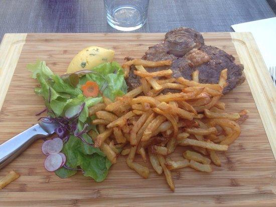 café du passage : Entrecôte frites sauce béarnaise