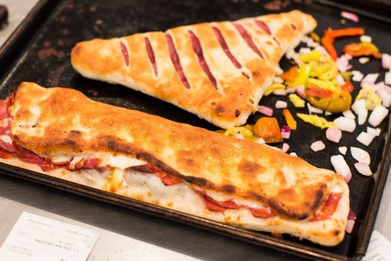 DiCarlo's Pizza - York: Veggie calzone and baked italian sandwich
