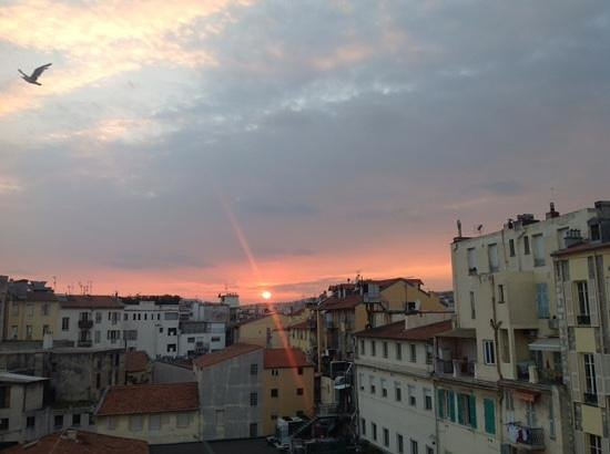 Le Dortoir: from our window