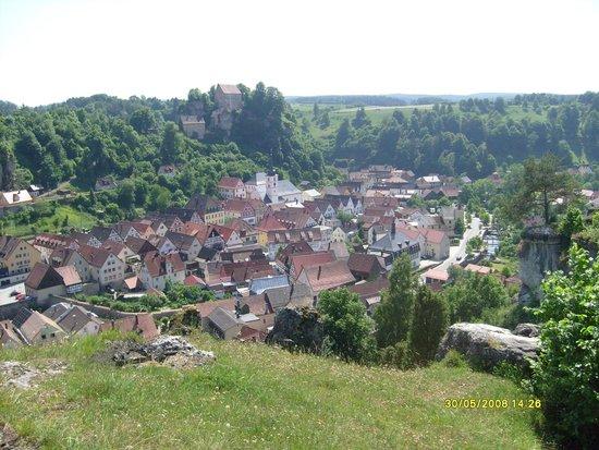 Sommerrodelbahnen Pottenstein: Widok miasta z góry