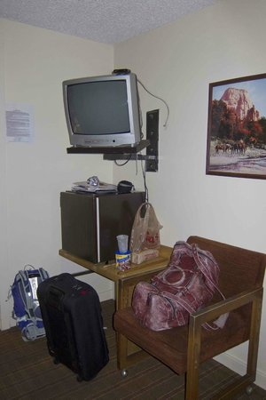 La Vista Motel: Fridge & TV corner