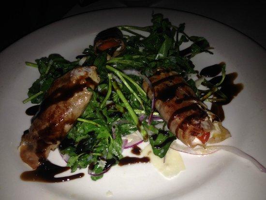 Morton's The Steakhouse - Atlantic City: Proscuitto wrapped mozzerella