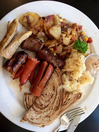 Little Gretel Restaurant : Sausage plate with wild game sausage