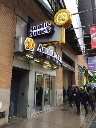 Auntie Anne S New York City 664 8th Ave Midtown Menu Prices Tripadvisor