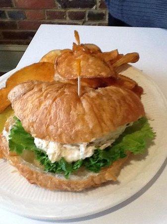 Lemon Leaf Cafe: Joedan Pastry Puff chicken salad sandwich