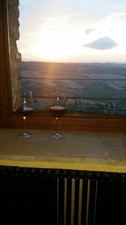 Osteria del Borgo: View from room at Sunset