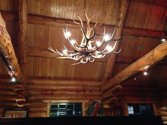 Antler chandelier gives authentic western feel to the log lodge ruby river antler chandelier gives authentic western feel to the log lodge aloadofball Image collections