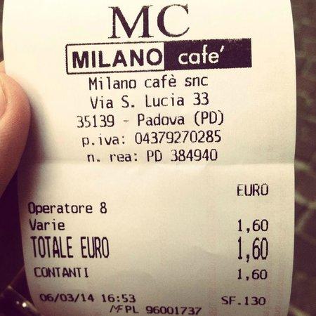 Milano Cafe: Un espresso al banco, il più caro della mia vita.